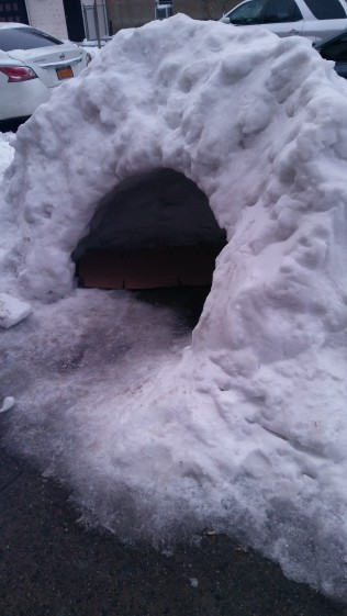 An igloo in NYC from last winter.